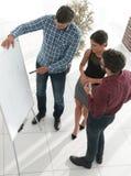 一次持续的teambuilding的研讨会的顶视图 免版税库存图片