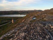 一次旅行向北部挪威 库存图片