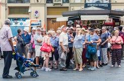 一次旅行的游人向佛罗伦萨 免版税库存照片