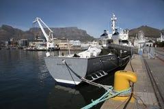 一次豪华游艇渔场船开普敦 库存照片
