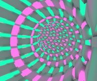 一次飞行的科学幻想小说例证通过隧道 氖灯3D回报设计 库存例证