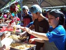 一次马来西亚家庭招待会庆祝 图库摄影