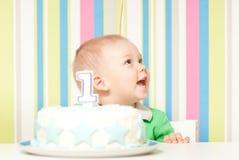 一次年婴孩生日聚会 图库摄影