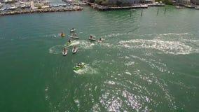 一次jetski游览的空中英尺长度在佛罗里达群岛 影视素材