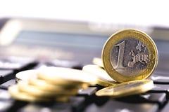 一欧元硬币 免版税图库摄影