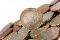 一欧元 免版税图库摄影