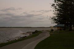 一海滩天的结尾 库存图片