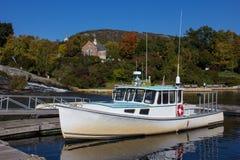 一渔船在坎登 免版税库存照片