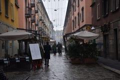 一灰色天在米兰 免版税库存照片