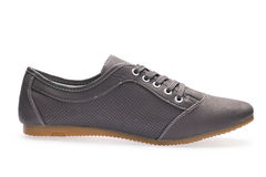 一炫耀有鞋带的运动鞋 库存图片