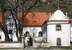 在城堡,布拉索夫之下的三位一体教会 库存图片