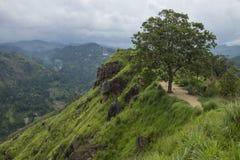 一点亚当斯峰顶全景,埃拉,斯里兰卡 库存照片