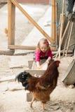 一点农场女孩 免版税图库摄影