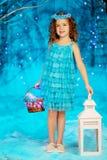 一点冬天童话女孩 库存照片