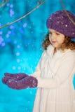 一点冬天童话女孩 免版税图库摄影