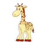 一点动画片长颈鹿的例证 免版税库存图片