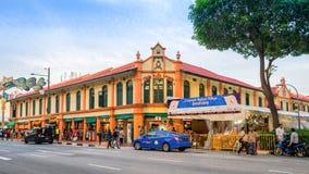 一点印度区的古老房子在新加坡 库存照片