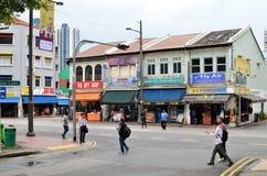 一点印度或印地安处所,新加坡 库存图片