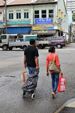 一点印度或印地安处所,新加坡 免版税库存照片