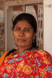 一点印度,新加坡2008 未知的印度妇女神色画象  免版税库存图片