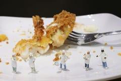 一点厨师的乐趣烹调 免版税库存照片