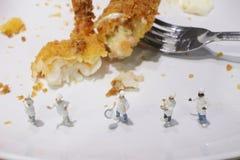 一点厨师的乐趣烹调 免版税库存图片