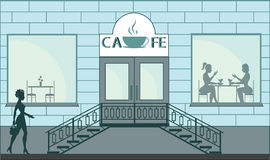 一点咖啡馆 免版税图库摄影