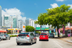 从一点哈瓦那的看法到街市迈阿密里 库存照片
