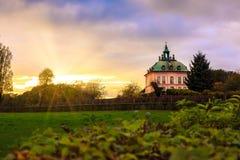 一点城堡Fasanenschlösschen莫里茨堡 库存图片