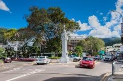 一点大本钟在维多利亚, Mahe,塞舌尔群岛 免版税库存图片