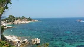 一点天堂在Kassiopi, Corfà ¹ 免版税库存照片
