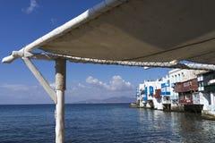 一点威尼斯在米科诺斯岛 免版税库存照片