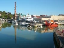 一点小游艇船坞在意大利 免版税库存图片