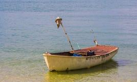 一点小船漂浮 免版税库存图片