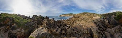 一点岩石海湾 库存图片