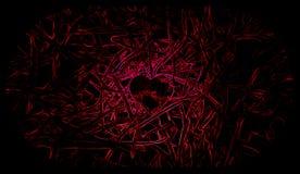 一点心脏黑和红色背景 ?? 向量例证