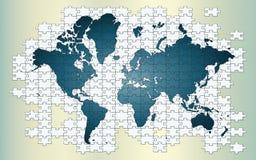 一点我们的困惑的世界 免版税库存图片