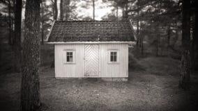 一点房子在森林里 免版税库存图片