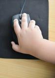 一点手和老鼠计算机 免版税库存照片