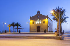 一点教会在Isla Plana,西班牙 免版税库存图片