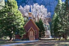 一点教堂在优胜美地 库存图片