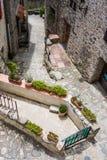一点村庄Eus,其中一个法国的最美丽的村庄 图库摄影