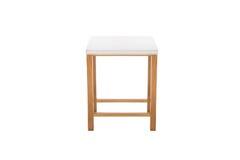 一点桌白色和木头 图库摄影