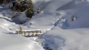 一点桥梁在冬天 免版税图库摄影