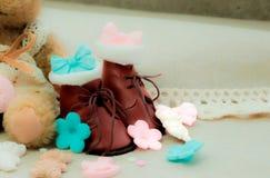 一点棕色鞋子 免版税库存照片