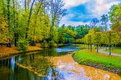 一点河在公园 库存图片