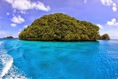 一点海岛在帕劳 免版税库存图片