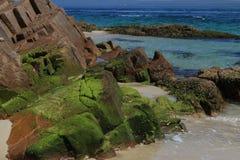 一点海湾岩层 库存照片