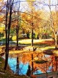 一点湖和五颜六色反映 库存图片