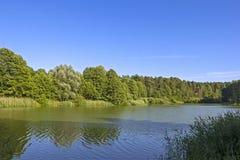 一点湖在勃兰登堡 库存照片